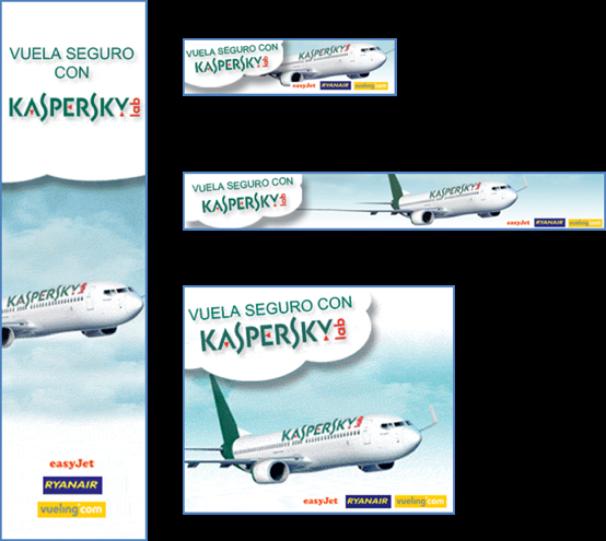 Kaspersky Lab España: Campaña de Display Ad: Banner, Robapaginas y Skyscraper