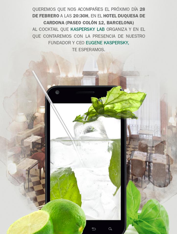 Kaspersky Lab España: Invitación al Kaspersky Cocktail BCN2012 en Barcelona