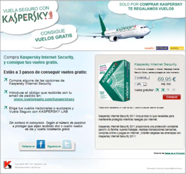 Landing Kaspersky