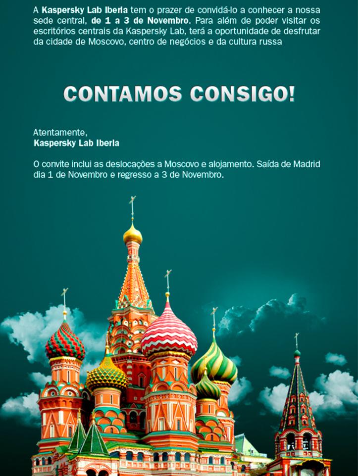 Kaspersky Lab Portugal: Invitación a Distribuidores Estratégicos