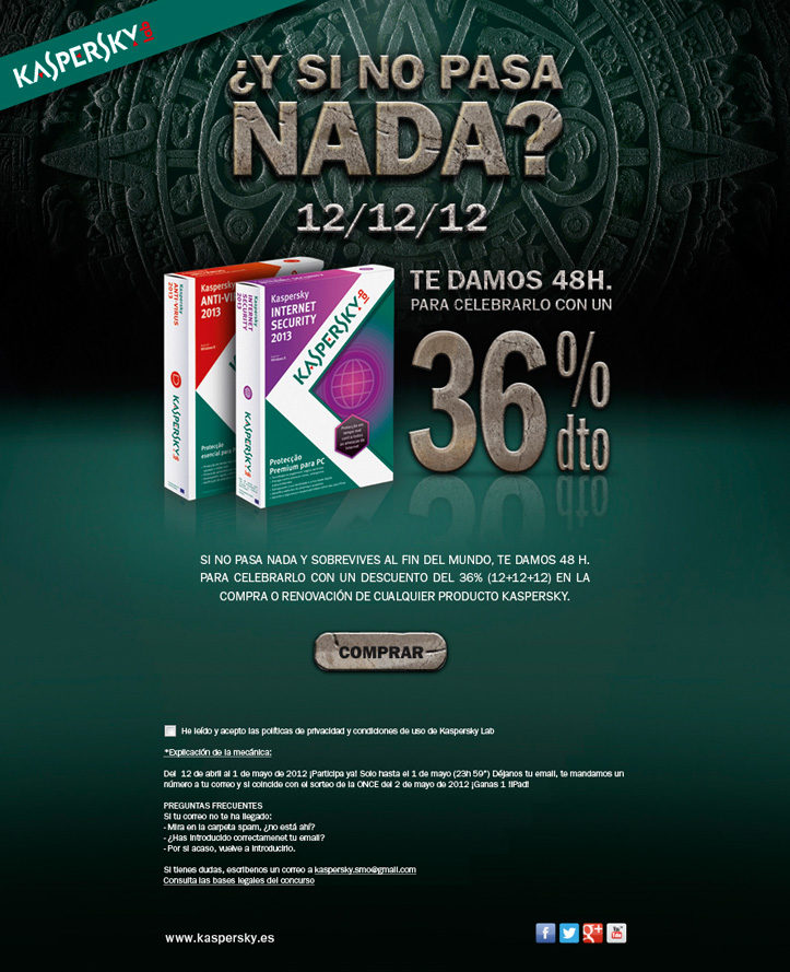 Kaspersky Lab España: Landing Page